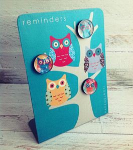 Owl Reminders Desk Magnet Board