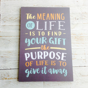 The Meaning Of Life Rectangular Deco Poster