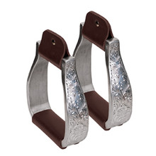 Aluminum Stirrups with Engraved Band, Visalia by Weaver