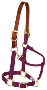 "Breakaway Original Adjustable Chin and Throat Snap Halter, 1"" by Weaver - Burgundy"