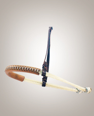 Noseband – Double Leather Covered Rope 20114A