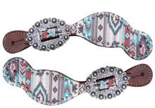 Showman Ladies Navajo Print Spur Straps 30785