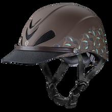 Weaver Troxel Dakota Helmet Turquoise and Paisley Brown 04-318M Medium
