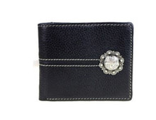 Genuine Leather Concho Collection Men's Wallet MWS-W014