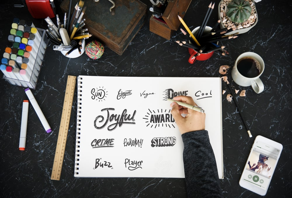 Designer creates different typefaces for custom embroidery