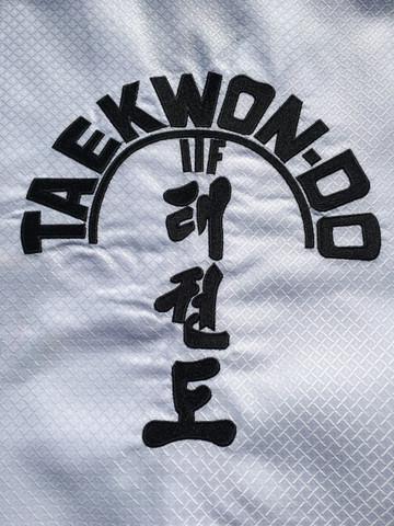 ITF Taekwon-Do tree high quality embroidery on the back.