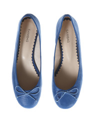 Sambag blue soft leather ballet flats