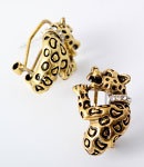 Earrings - Leopard