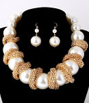 Necklace & Earrings Set Imitation Pearl