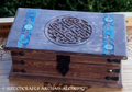 Celtic Knot Wood Chest