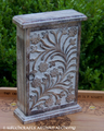 Floral Carved Mangowood Cupboard Chest