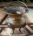 Brass Celtic Knot Mini Cauldron