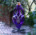WISE WITCH Pentacle Sapphire Purple Amphora w/ Stand