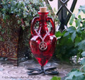 POWER WITCH Pentacle Blood Red Amphora w/ Stand