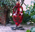 WITCHES HEART Love Spell Scarlet Red Heart Amphora w/ Stand
