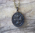RUNIC THORSKREUZ Double Faced Amulet Pendant Necklace
