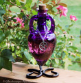 9 Gemstone 5 Herb WITCHCRAFT POWER POTION in Pentacle Amphora w/ Stand