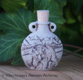 BEAR SPIRIT Fired Clay Pendant Potion Bottle