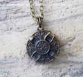 KELTIC CROSS Amulet Pendant Necklace