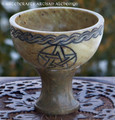 CELTIC KNOT PENTACLE Rustic Stone Pedestal Incense Burner