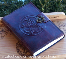 Pentacle Leather Blank Journal