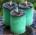 "GREENFINGERS Double Action Better Business ""Fusion Magic"" Pillar Votive Candles"