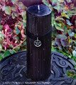 SALEM Old European Power Pentacle Black Velvet Pillar Candle w/ Dragon's Blood
