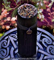 WITCHES POWER Black Pillar Candle w/ Bronze Pentacle, 3x9
