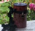 "WITCH QUEEN ""Old European Witchcraft"" Triple Crown Pillar Candle"