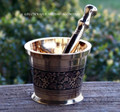 ALCHEMY Old World Medieval Witchcraft Brass Mortar & Pestle