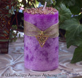 "CELTIC HEATHER Gold Triquetra Old European ""Celtic Lights"" Pillar Candle"