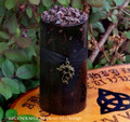 DRAGONS BLOOD Deep Burgundy Bronze Filigree Dragon Pillar Candle 3x6