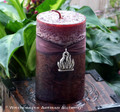 PAGAN BONFIRE Sacred Smoke Rustic Red Brown Pillar Candle