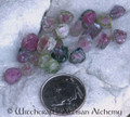 WATERMELON TOURMALINE Rough Crystal Slice