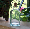 Rectangular Glass Potion Bottle with Cork - 4oz