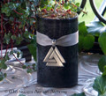 "ODIN Ruler of Asgard Old European ""Nordic Lights"" Pillar Candle w/ Valknut"