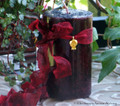 """SPICED MIDNIGHT POMEGRANATE """"Old European Magic"""" Pillar Candle w/ 24K Gold Plated Charm"""