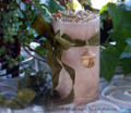 "AWEN ""Druid Power"" Old European ""Celtic Lights"" Pillar Candle w/ Hand Carved Wood Awen Acorn"
