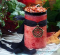 "HAUNTED HARVEST ""Spirit of Samhain"" ""Fusion Magic"" ""Old European Witchcraft"" Pillar Candle"