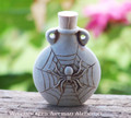 SPIDER SPIRIT Fired Clay Pendant Potion Bottle