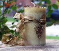 "CERNUNNOS Horned God ""Celtic Lights"" Pillar Candle"