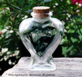 Heart Clear Glass Bottle w/ Cork