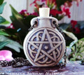 PENTACLE Clay Bead Pendant Oil Bottle Necklace