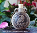 RAVEN Clay Bead Pendant Oil Bottle Necklace