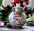 CAT Ceramic Bead Pendant Oil Bottle Necklace