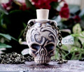 CALAVERA SKULL Clay Bead Pendant Oil Bottle Necklace