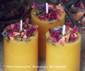 BEAUTIFUL Beeswax Herbal Pillar Votive Candles
