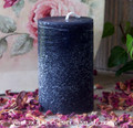 "RUSTIC BLACK 2x3 Unscented ""Old European Rustics"" Primitive Style Pillar Candle"