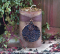 "KELTEN ""Old European Witchcraft"" Pillar Candle w/ Celtic Spiral Pendant"