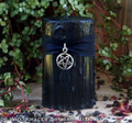 "DARK ARTS ""Old European Witchcraft"" Pillar Candle with Inverted Pentagram"